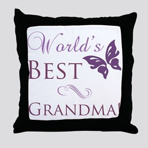 World's Best Grandma Throw Pillow