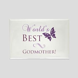 World's Best Godmother Rectangle Magnet
