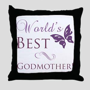 World's Best Godmother Throw Pillow