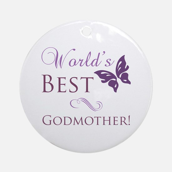 World's Best Godmother Ornament (Round)