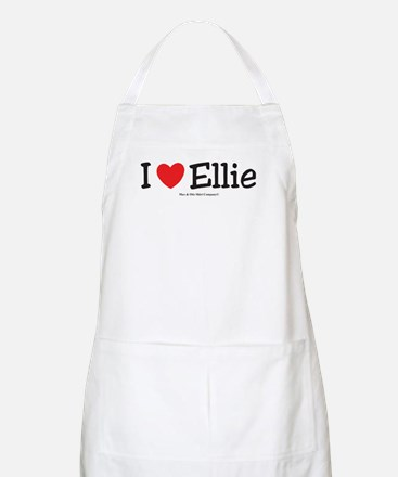 I Love Ellie - custom I Heart Apron