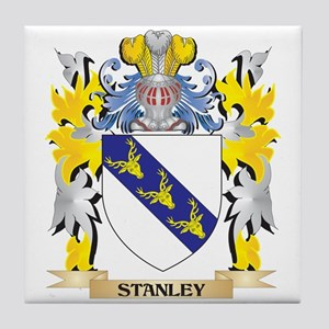Stanley Family Crest - Coat of Arms Tile Coaster