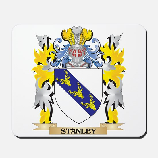Stanley Family Crest - Coat of Arms Mousepad
