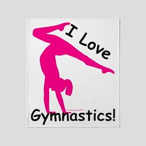 Gymnastics Throw Blanket - Love