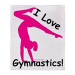 Gymnastics Throw Blanket - Love