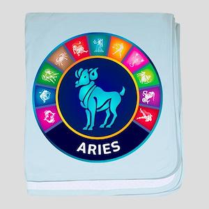 Aries Sign baby blanket