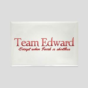 Team Edward Jacob shirtless Rectangle Magnet