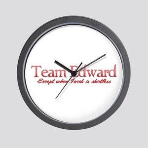 Team Edward Jacob shirtless Wall Clock