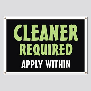 Cleaner required Banner