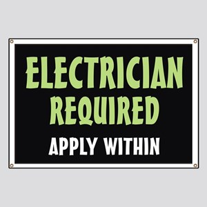 Electrician required Banner