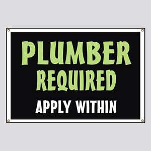 Plumber required Banner