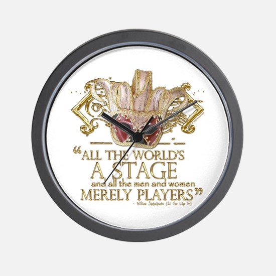 As You Like It Quote Wall Clock