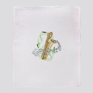 Soprano Saxophone Throw Blanket