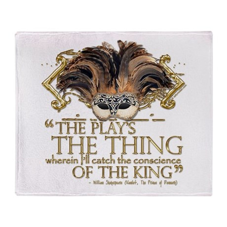 Shakespeare Hamlet Quote Throw Blanket