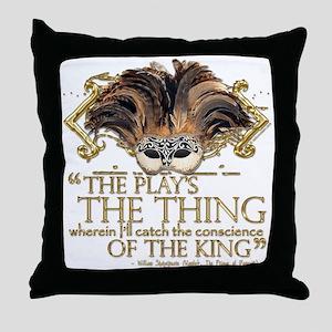 Shakespeare Hamlet Quote Throw Pillow