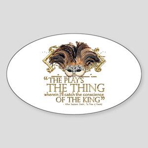 Shakespeare Hamlet Quote Sticker (Oval)