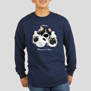Border Collie - I Herd Long Sleeve Dark T-Shirt