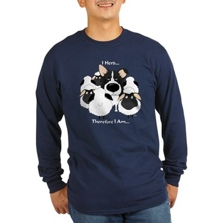Border Collie - I Herd Long Sleeve Dark T-Shirt