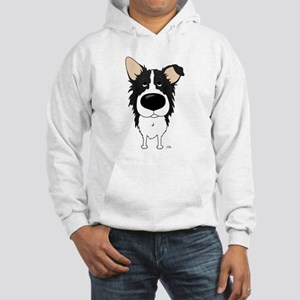 Big Nose/Butt Border Collie Hooded Sweatshirt