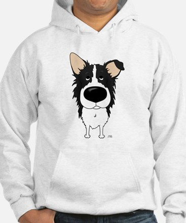 Big Nose/Butt Border Collie Hoodie