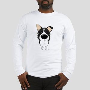 Big Nose/Butt Border Collie Long Sleeve T-Shirt