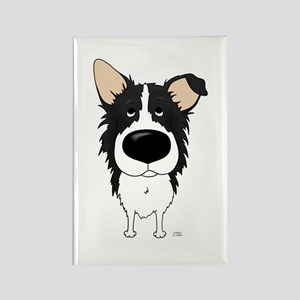 Big Nose Border Collie Rectangle Magnet