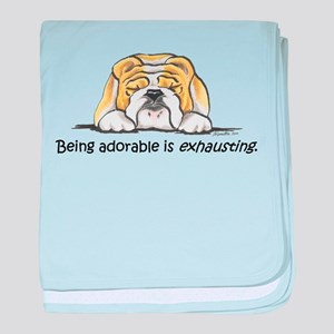 Adorable Bulldog baby blanket
