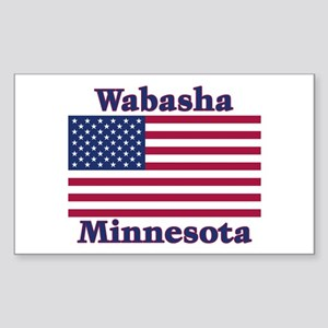 Wabasha US Flag Sticker (Rectangle)