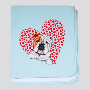 English Bulldog Love baby blanket