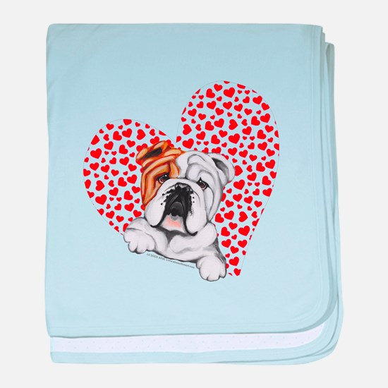 English Bulldog Love baby blanket