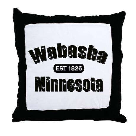 Wabasha Established 1826 Throw Pillow