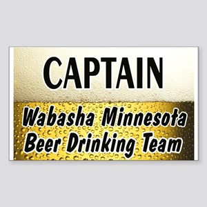 Wabasha Beer Drinking Team Sticker (Rectangle)