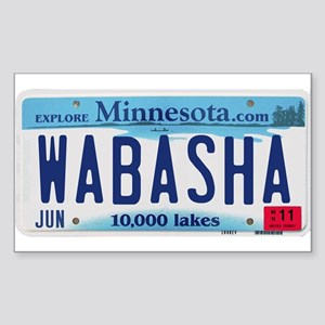 Wabasha License Plate Sticker (Rectangle)