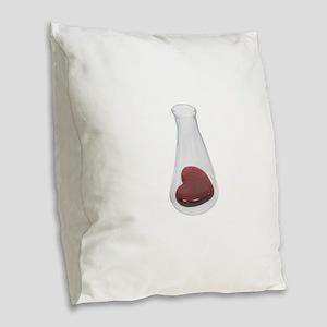 LoveChemistryBeaker071209 Burlap Throw Pillow