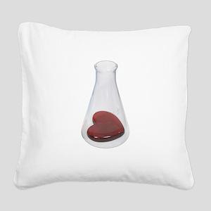 LoveChemistryBeaker071209 Square Canvas Pillow