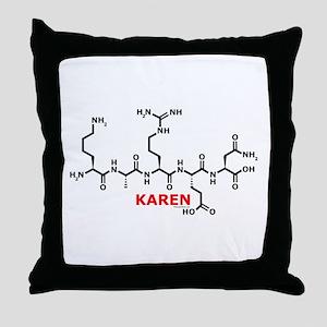 Karen molecularshirts.com Throw Pillow