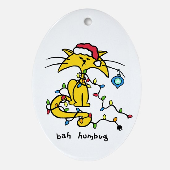 Cat Christmas Ornament (Oval)
