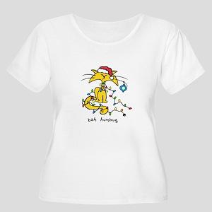 Women's Plus Size Christmas Cat T-Shirt