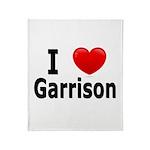 I Love Garrison Throw Blanket