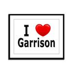 I Love Garrison Framed Panel Print