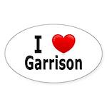 I Love Garrison Sticker (Oval 10 pk)