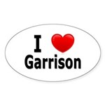 I Love Garrison Sticker (Oval 50 pk)