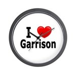 I Love Garrison Wall Clock