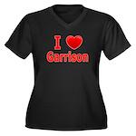 I Love Garrison Women's Plus Size V-Neck Dark T-Sh