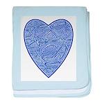 Blue Heart baby blanket