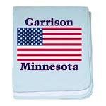 Garrison US Flag baby blanket
