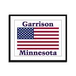 Garrison US Flag Framed Panel Print