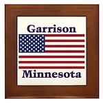 Garrison US Flag Framed Tile