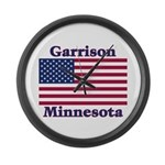 Garrison US Flag Large Wall Clock