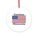 Garrison US Flag Ornament (Round)